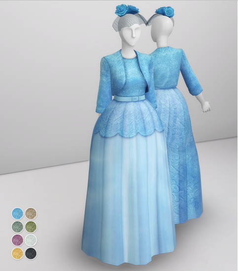 Queen of Blue Dress from Rusty Nail