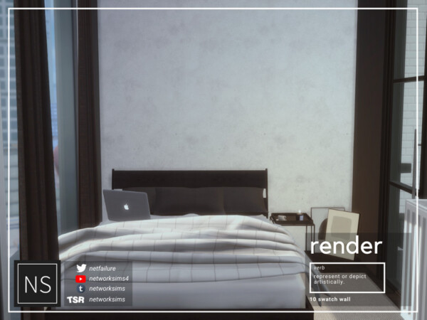 Render Concrete Walls by Networksims from TSR