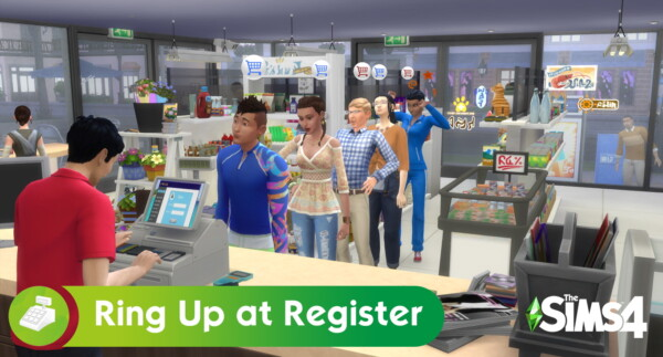 Ring Up Customers at Register by cLineLy from Mod The Sims
