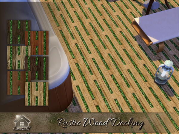 Rustic Wood Decking by emerald from TSR