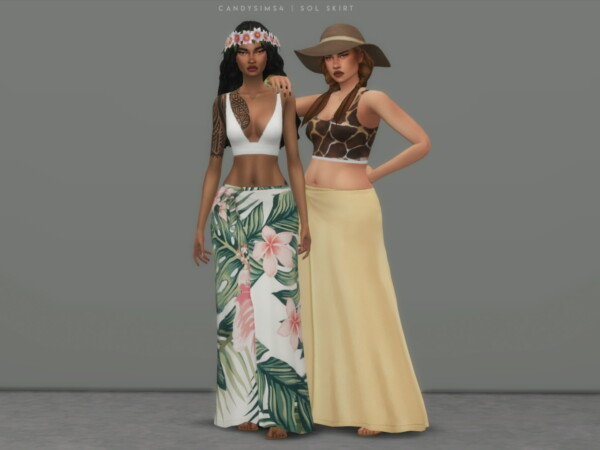 Sol Skirt from Candy Sims 4