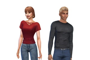 Sims couple by  Késsy lolé from Luniversims