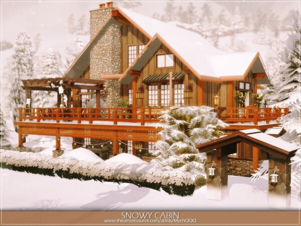 Snowy Cabin by MychQQQ from TSR