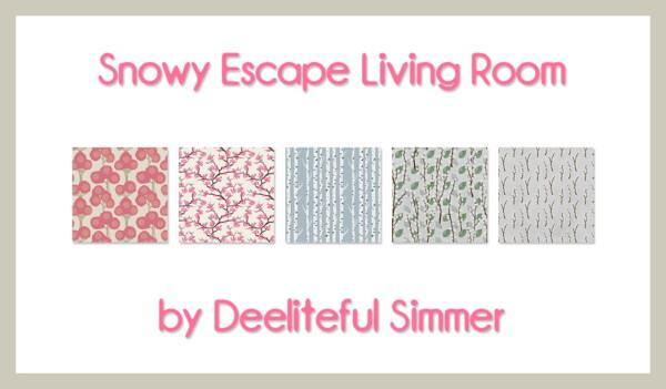 Snowy Escape Livingroom from Deelitefulsimmer