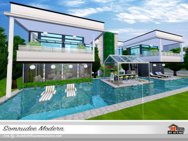 Somrudee Modern House NoCC by autaki from TSR