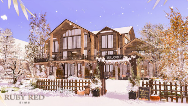The Alpine Chalet Resort from Ruby`s Home Design