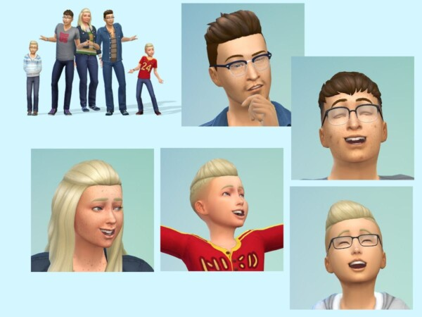 The Ervik Family from KyriaTs Sims 4 World
