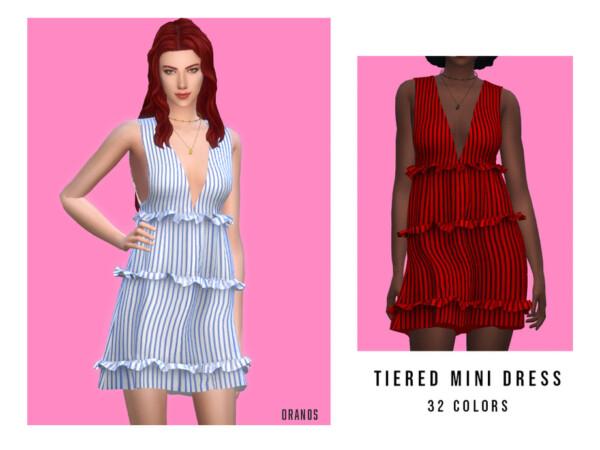 Tiered Mini Dress by OranosTR from TSR
