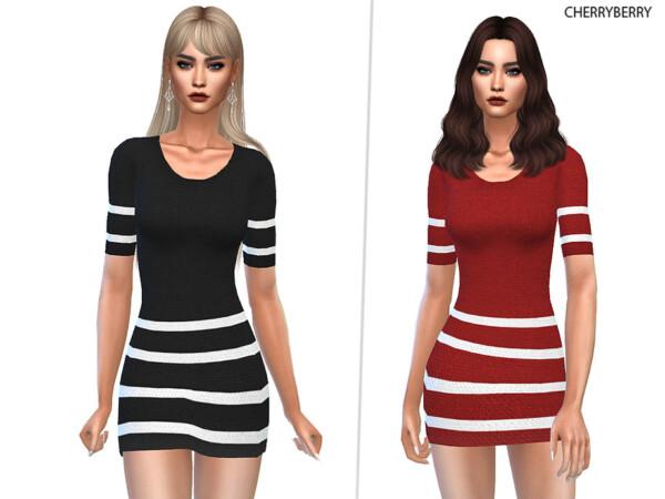 Velvet Dress by CherryBerrySim from TSR