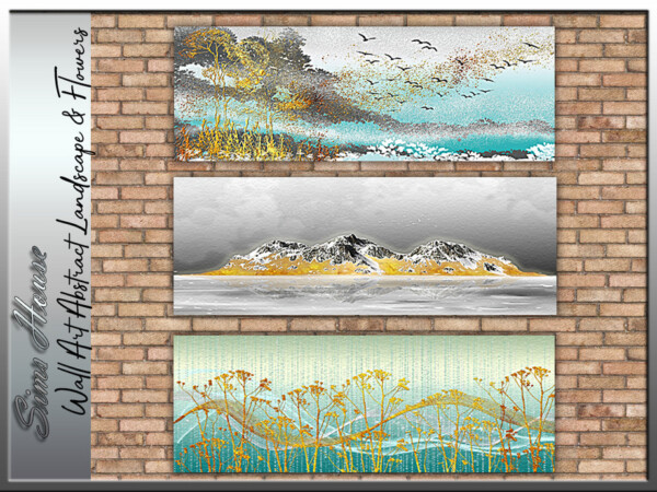 Wall Art Abstract Landscape and Flowers by Sims House from TSR