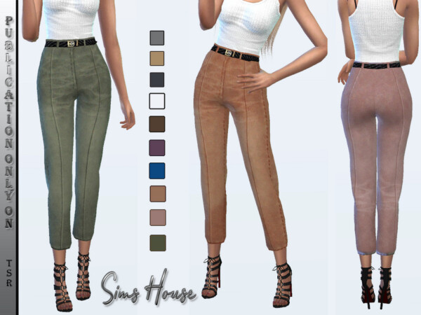 Womens Eco Suede Pants by Sims House from TSR