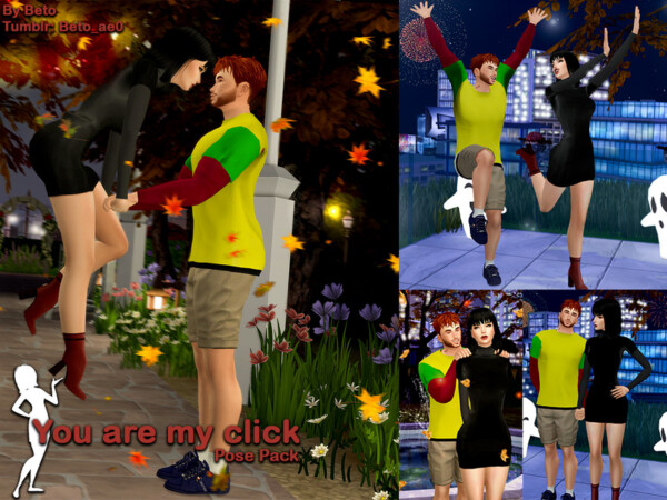 You are my click Pose Pack by Beto ae0 from TSR