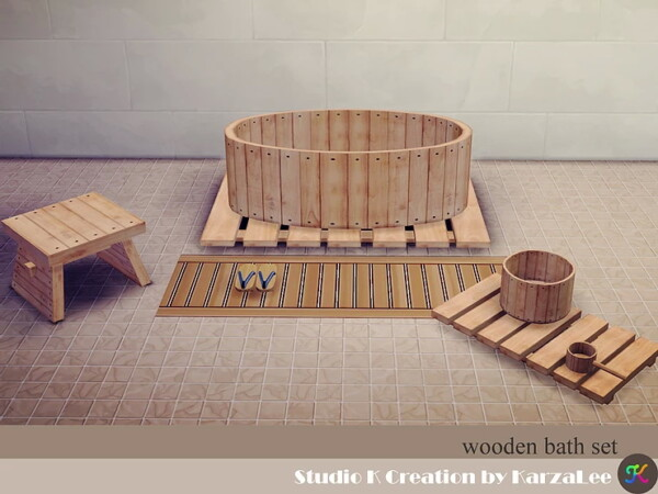 Wooden bath set from Studio K Creation