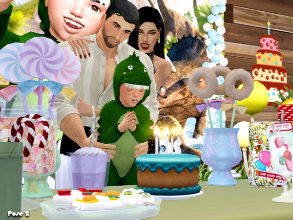 Happy Birthday Pose pack by Beto ae0 from TSR