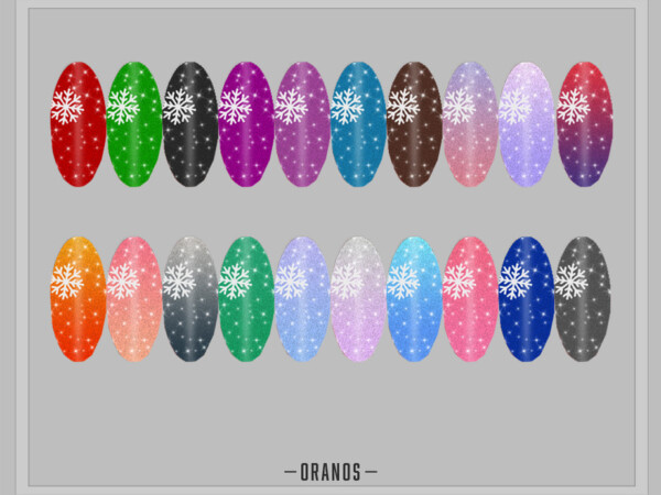 Snowflake Nails by OranosTR from TSR