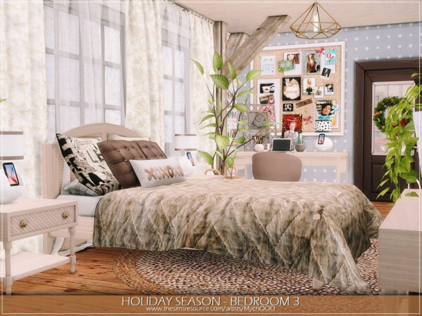 Holiday Season Bedroom 3 by MychQQQ from TSR