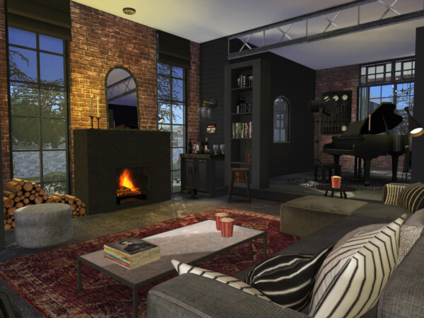 Brick and Steel  Living Room by fredbrenny from TSR