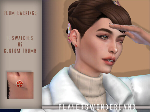 Mouthpreset and Plum Earrings from Players Wonderland