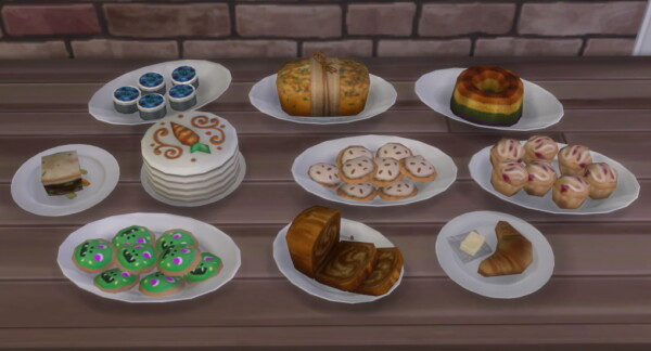 A.I. Upscaled Food by Cowplants Cake from Mod The Sims