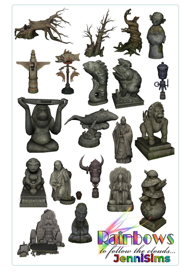 Decorative statues from Jenni Sims