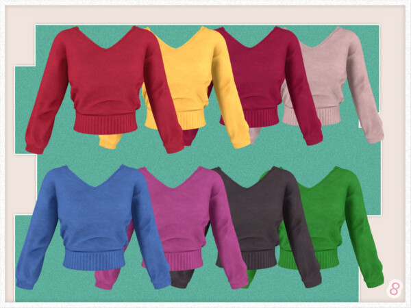 Balloon Sleeve Sweater by JavaSims from TSR