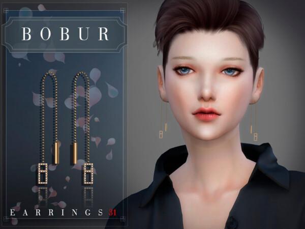 Earrings 31 by Bobur from TSR