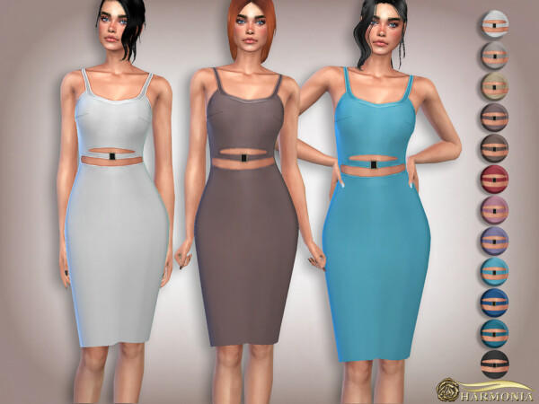 Body Sculpting Design Cut out Dress by Harmonia from TSR