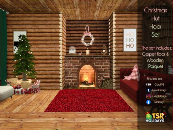 Christmas Hut Floor Set by Caroll91 from TSR