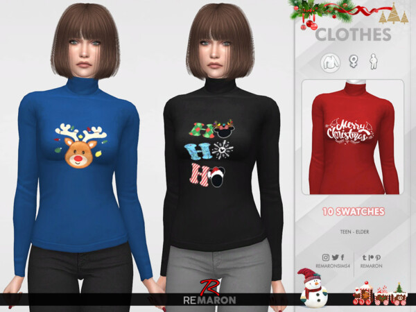 Christmas Sweater For Women 01 by remaron from TSR