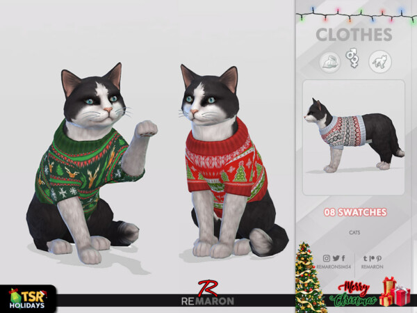 Christmas Sweater for Cats by remaron from TSR