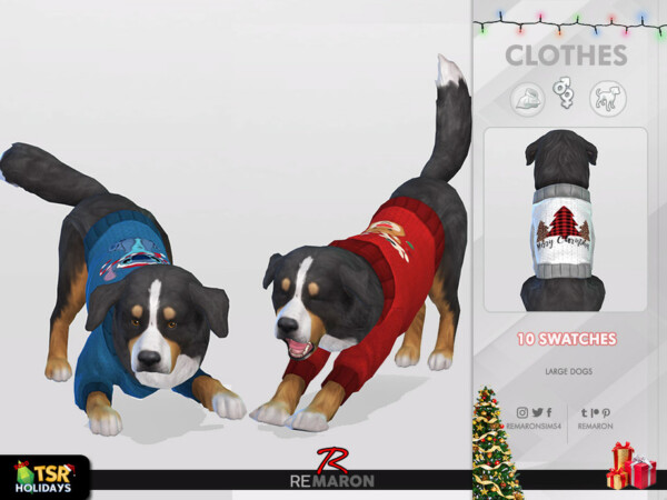 Christmas Sweater for Large Dogs 01 by remaron from TSR