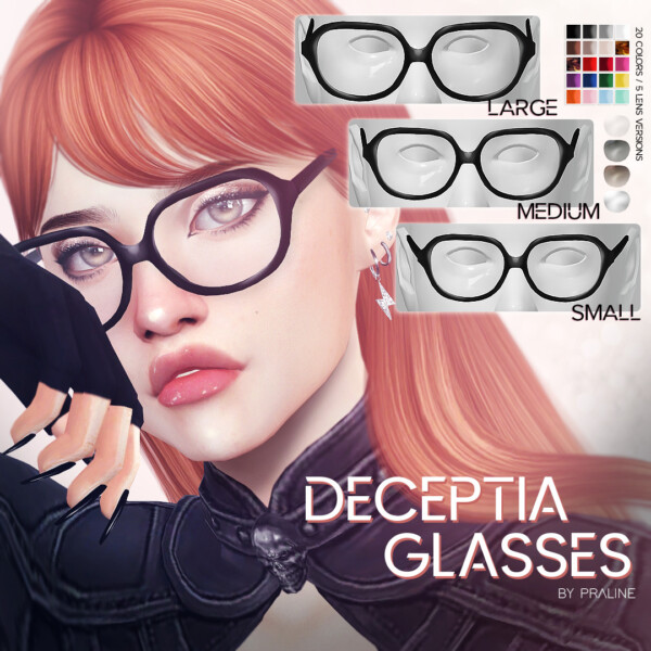 Deceptia Glasses from Praline Sims