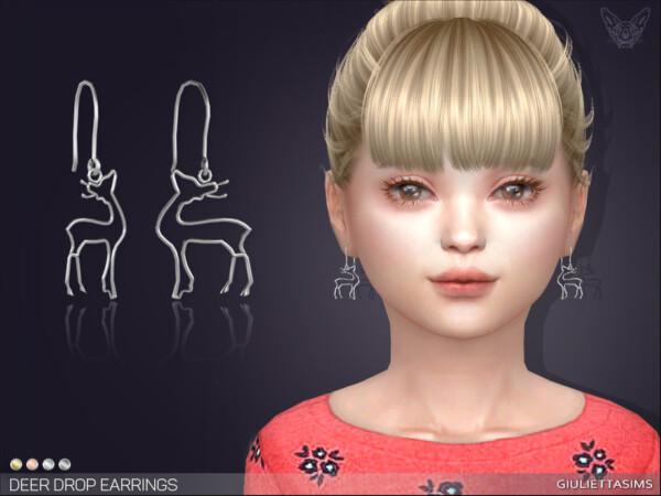 Deer Drop Earrings 1 by feyona from TSR