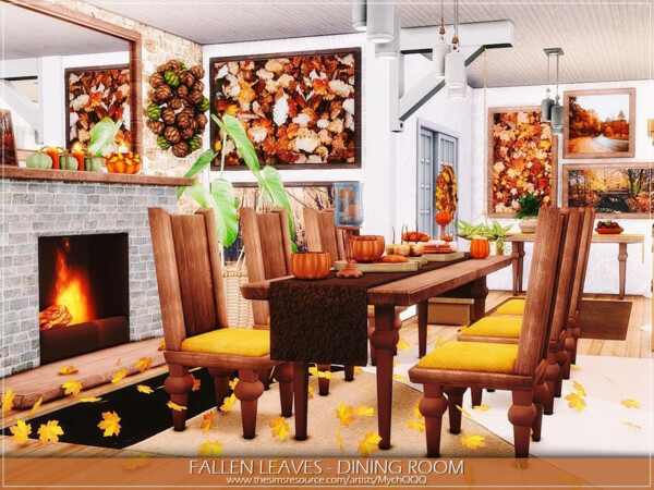 Fallen Leaves Dining Room by MychQQQ from TSR