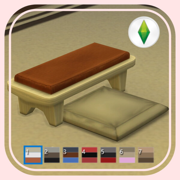 Floor Cushion Highchair by BlueHorse from Mod The Sims