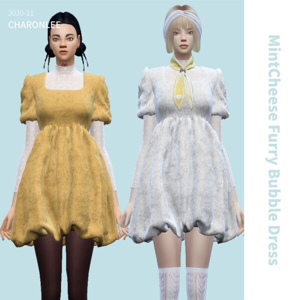 Furry Bubble Dress from Charonlee