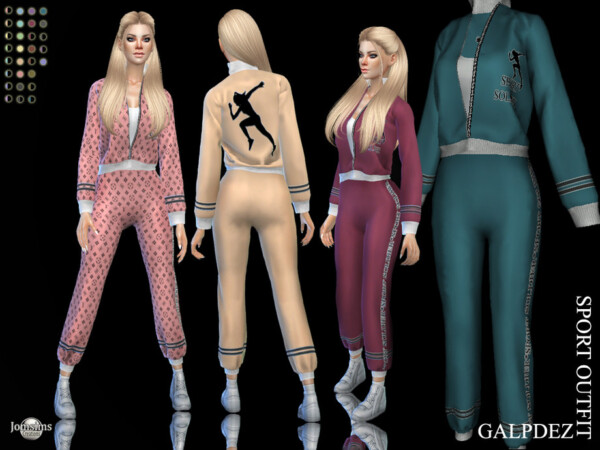 Galpdez sport outfit by jomsims from TSR