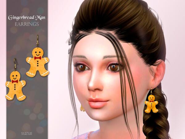 GingerbreadMan Child Earrings by Suzue from TSR