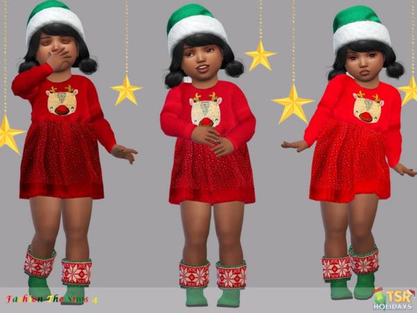 Holiday Wonderland Dress Baby Anna by LYLLYAN from TSR