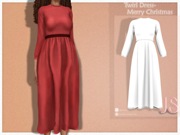 Twirl Dress by JavaSims from TSR