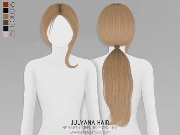 Julyana Hair from Red Head Sims