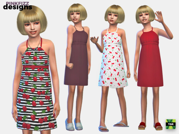 Junior Cherry Dress by Pinkfizzzzz from TSR