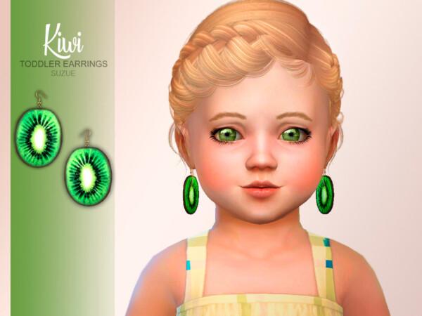 Kiwi Toddler Earrings by Suzue from TSR