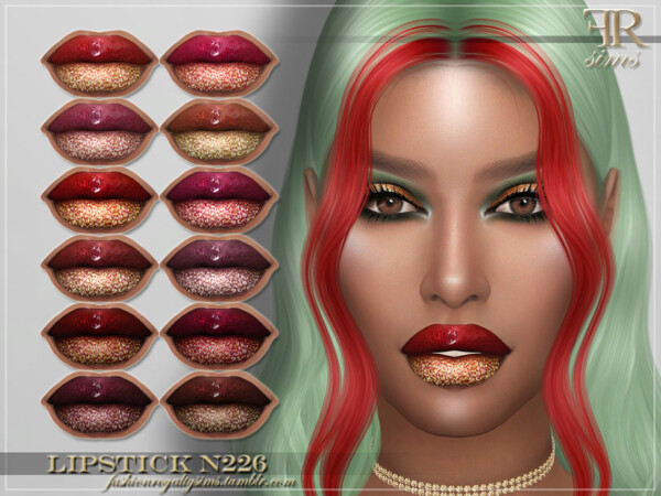Lipstick N226 by FashionRoyaltySims from TSR