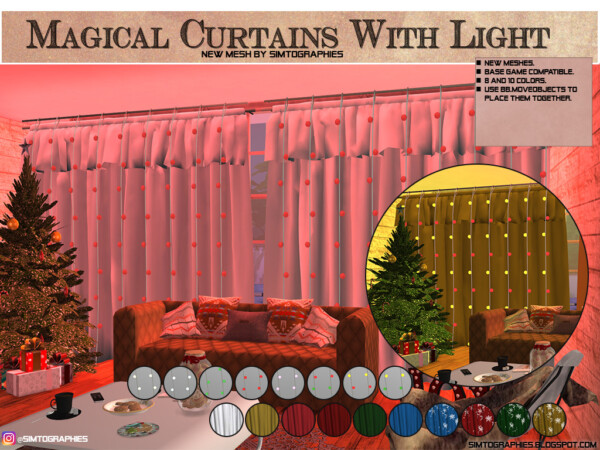 Magical Curtains With Light from Simtographies