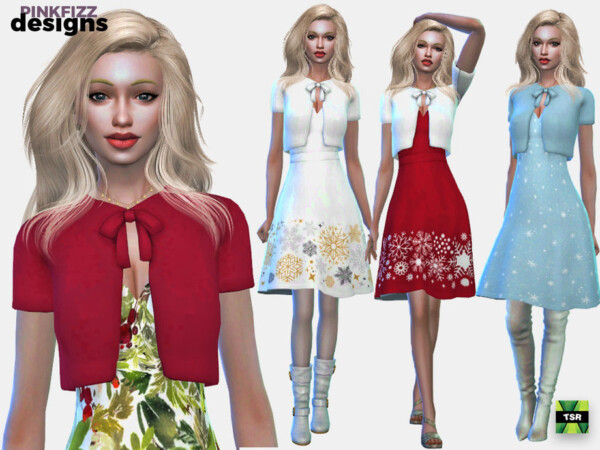 Party Christmas Dress by Pinkfizzzzz from TSR
