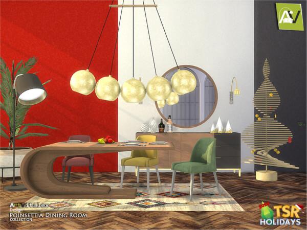 Poinsettia Dining Room by ArtVitalex from TSR