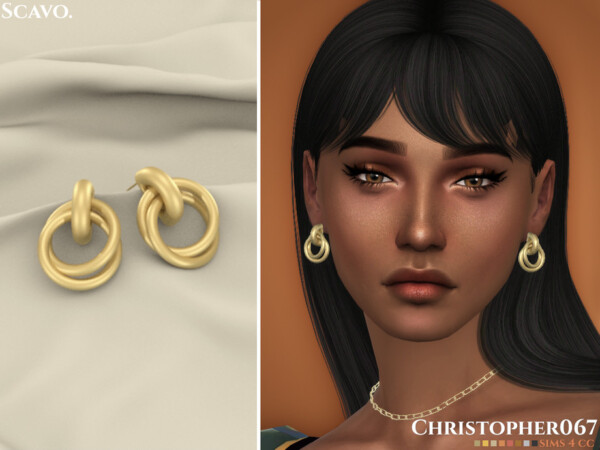 Scavo Earrings by Christopher067 from TSR