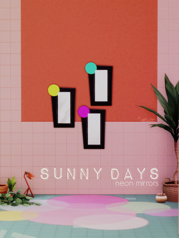 Suny Day Neon Mirrors from Picture Amoebae