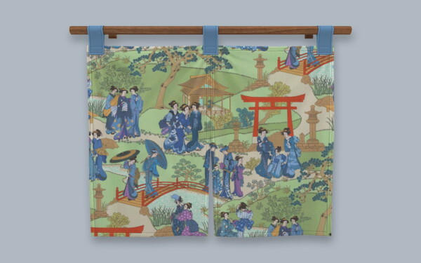 Taisho Noren Hanging from Simplistic